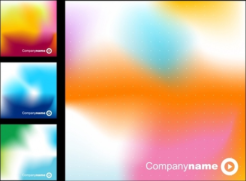 name card templates abstract design colorful blurred decor