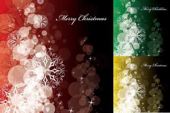 christmas background templates twinkling bokeh snowflakes decor