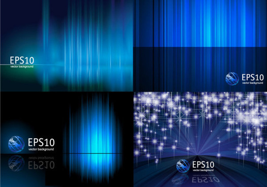 fantasy bright background vector set