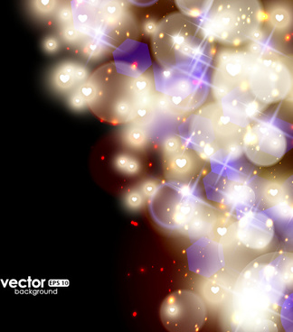 fantasy colored light dot background vector