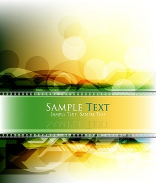 film banner template modern colorful sparkling bokeh decor