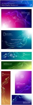 presentation background templates collection modern sparkling curves ornament