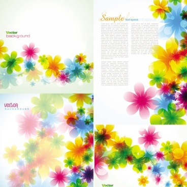 flora background templates modern colorful blurred petals decor