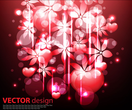 fantasy floral design vector background