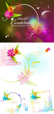 fantasy flower background design vector