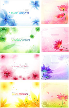 fantasy flower background vector art