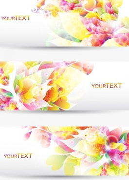fantasy flowers background banner template vector 1