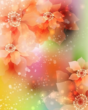 flowers background colorful sparkling bokeh light decor