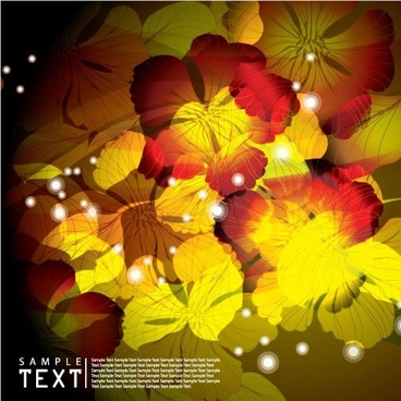 fantasy flowers background vector
