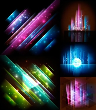 fantasy light background templates modern colorful twinkling decor