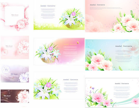 fantasy lily background vector