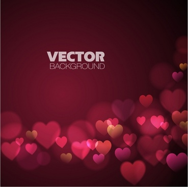 valentine background modern dark twinkling blurred hearts decor