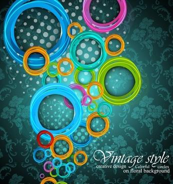 fantasy ring pattern vector