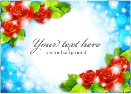 fantasy rose border vector