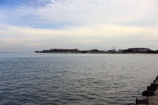far view navy pier at chicago illinois
