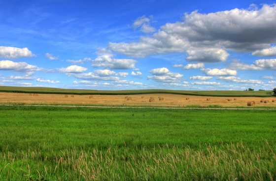 farm and fields landscape on the jane adams trail illinois
