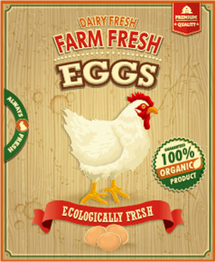 farm fresh food poster vintage vector