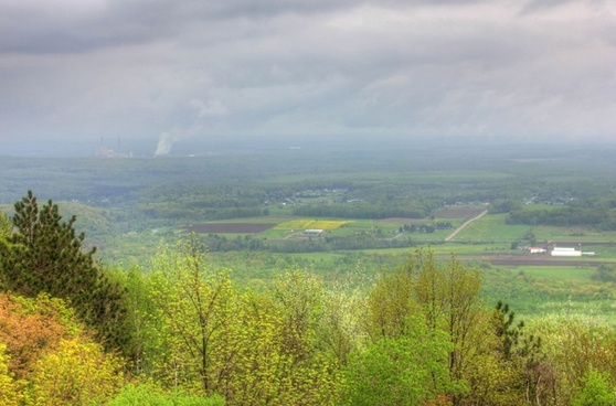 farms and forests at rib mountain state park wisconsin