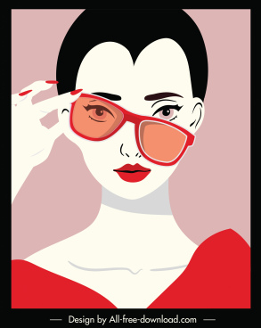 fashion background elegant lady portrait sketch
