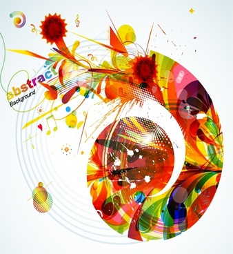 music event background colorful grunge abstract dynamic decor