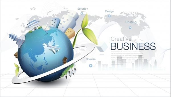 fashion background vector environmental concept of global business