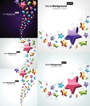 fashion background with stars vector