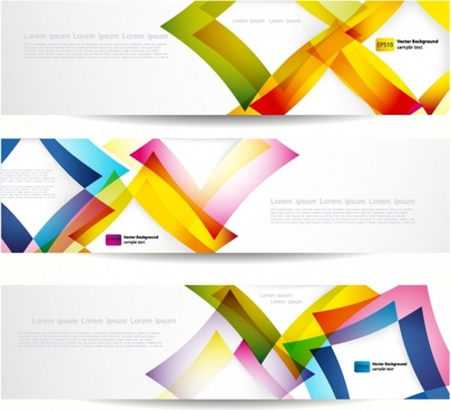 decorative banner templates shiny modern colorful abstract