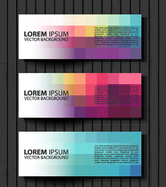fashion banners colored design vector