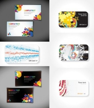 fashion beautiful business card vector