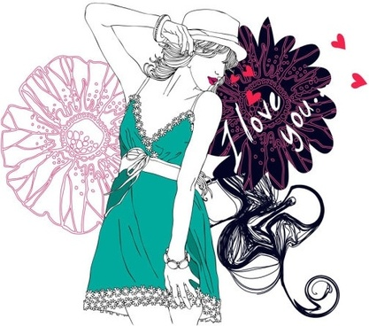 fashion beauty vector
