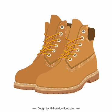 fashion boots icon brown 3d design leather decor
