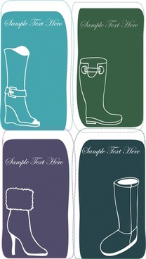 fashion boots silhouettes vector illustration