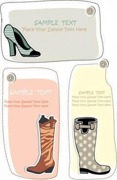 fashion boots trend vector illustration silhouettes cards