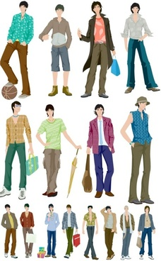 fashion boys vector