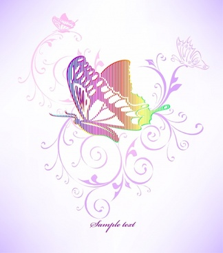fashion butterfly pattern vector