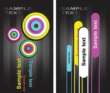fashion card template vector