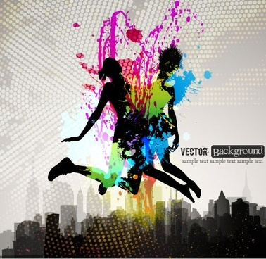 fashion color splash background 03 vector