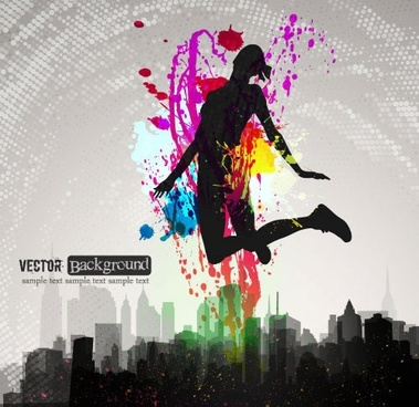 fashion color splash background vector