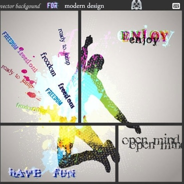fashion color splash vector