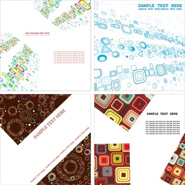 decorative background templates modern colored geometric decor