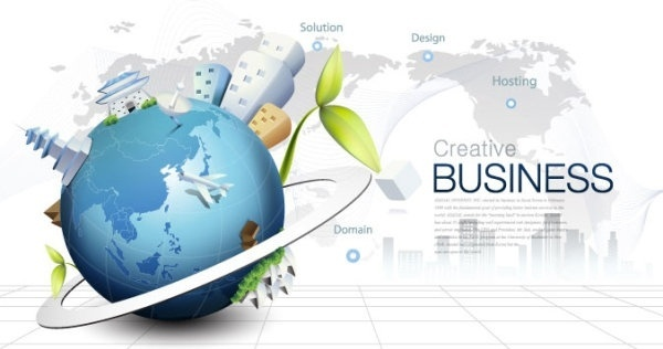 fashion concept of environmental protection global business background design vector 4