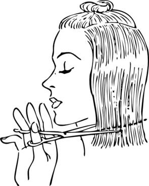 Fashion Cutting Women's Hair clip art