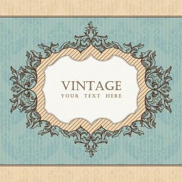decorative cover template elegant vintage symmetric decor
