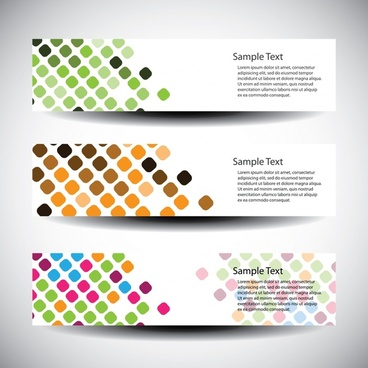 decorative banners templates modern colorful squares decor