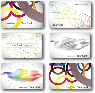 business card templates colorful modern abstract geometry decor
