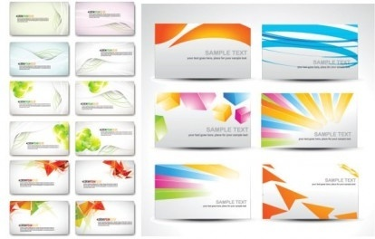 fashion elegant business cards vector set