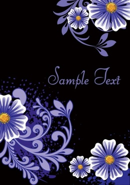 fashion floral background 03 vector