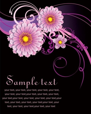 fashion floral background 04 vector