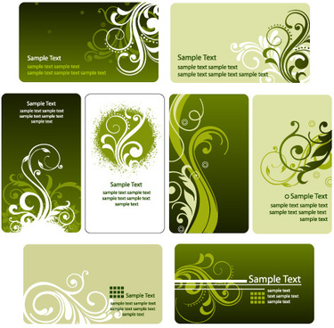 fashion floral card template vector graphic