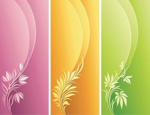 Fashion Floral with Curve Background
